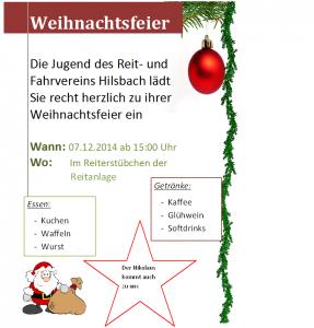 Plakat Weihnachtsfeier